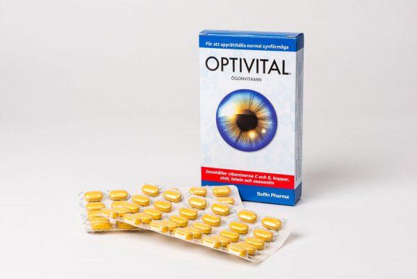 Optivital är ett svenskt kostillskott som bygger på världens största ögonstudie med bevisad effekt mot åldersförändringar i gula fläcken (makuladegeneration).