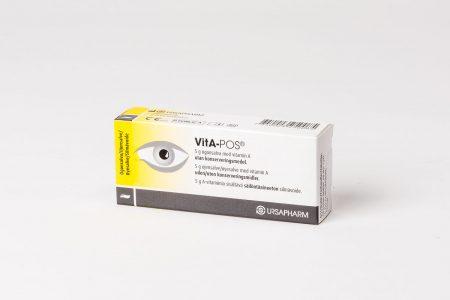 VitA-POS en smörjande ögonsalva, motverkar och lindrar besvär med torra ögon.