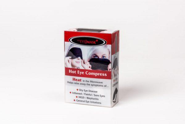 Ögonmask för lindrande kyl- eller värmebehandling.
