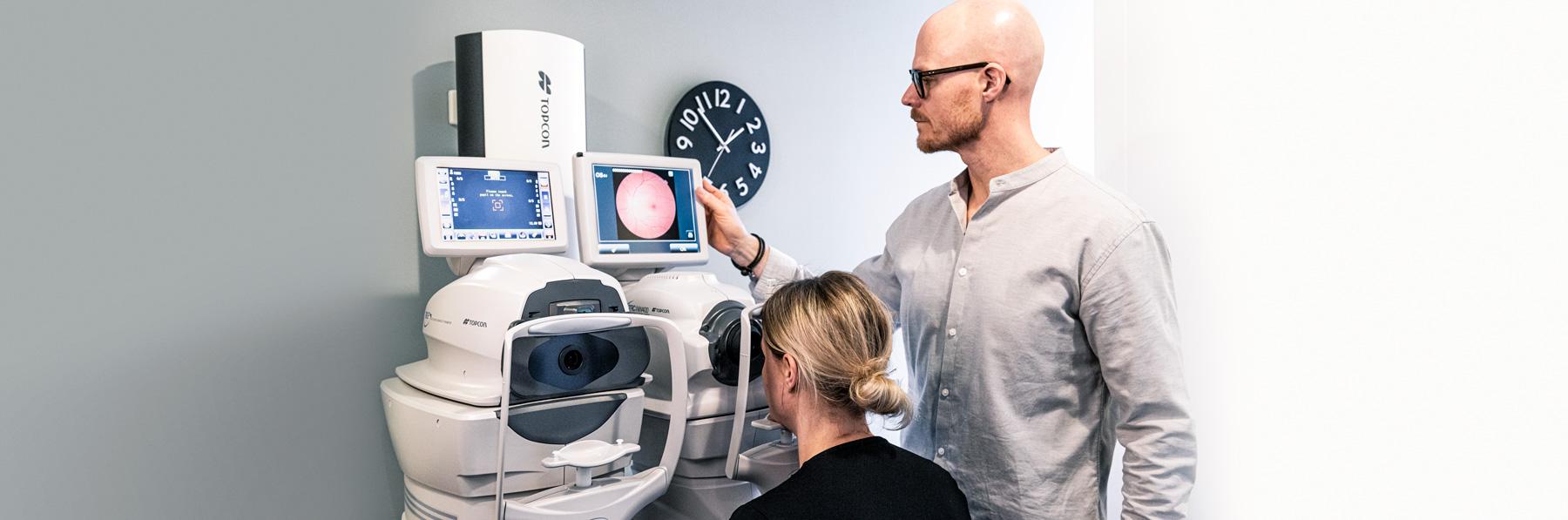 Synundersökning med bedömning av din ögonhälsa